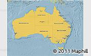Savanna Style 3D Map of Australia