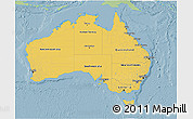 Savanna Style 3D Map of Australia, single color outside