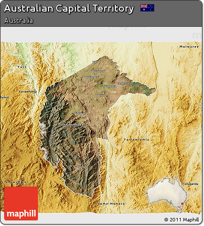 Free 3d Map Of Australia.Free Satellite 3d Map Of Australian Capital Territory Physical Outside