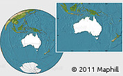 Blank Location Map of Australia, satellite outside