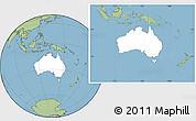 Blank Location Map of Australia, savanna style outside