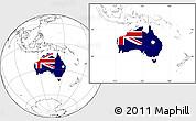 Flag Location Map of Australia, blank outside