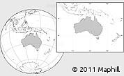 Gray Location Map of Australia, blank outside