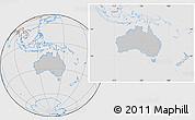 Gray Location Map of Australia, lighten, desaturated