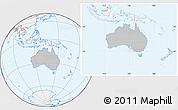 Gray Location Map of Australia, lighten