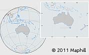 Gray Location Map of Australia, lighten, semi-desaturated