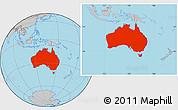 Gray Location Map of Australia