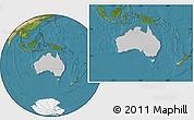Gray Location Map of Australia, satellite outside
