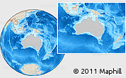 Gray Location Map of Australia, shaded relief outside