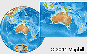 Satellite Location Map of Australia, physical outside