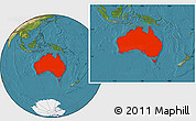 Satellite Location Map of Australia