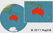 Satellite Location Map of Australia