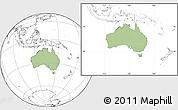 Savanna Style Location Map of Australia, blank outside