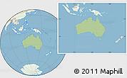 Savanna Style Location Map of Australia, lighten, land only