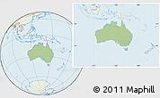 Savanna Style Location Map of Australia, lighten