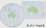 Savanna Style Location Map of Australia, lighten, semi-desaturated