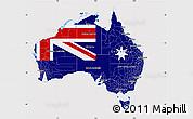 Flag Map of Australia, flag centered