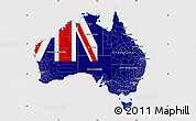 Flag Map of Australia, flag aligned to the middle