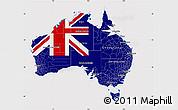 Flag Map of Australia, flag rotated