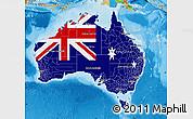 Flag Map of Australia, political outside