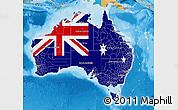 Flag Map of Australia, political shades outside