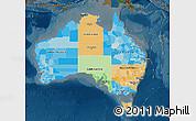 Political Map of Australia, darken