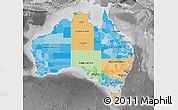 Political Map of Australia, desaturated
