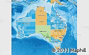 Political Map of Australia, political shades outside