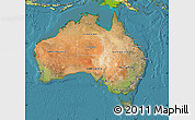 Satellite Map of Australia, physical outside, satellite sea