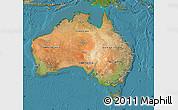 Satellite Map of Australia