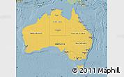 Savanna Style Map of Australia