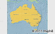 Savanna Style Map of Australia, single color outside