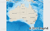 Shaded Relief Map of Australia