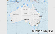 Silver Style Map of Australia