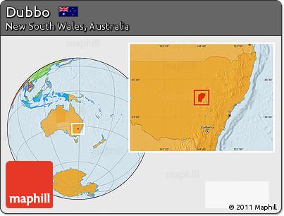 Australia Map Dubbo.Free Political Location Map Of Dubbo