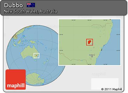 Australia Map Dubbo.Free Savanna Style Location Map Of Dubbo