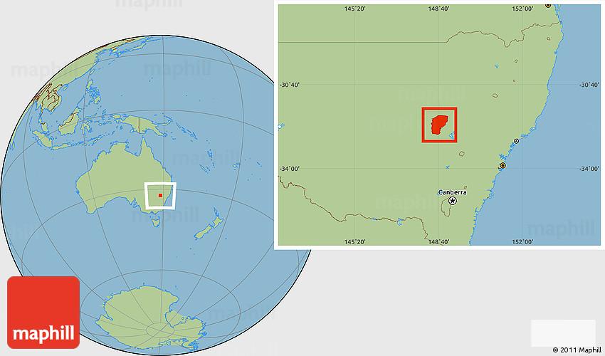 Australia Map Dubbo.Savanna Style Location Map Of Dubbo