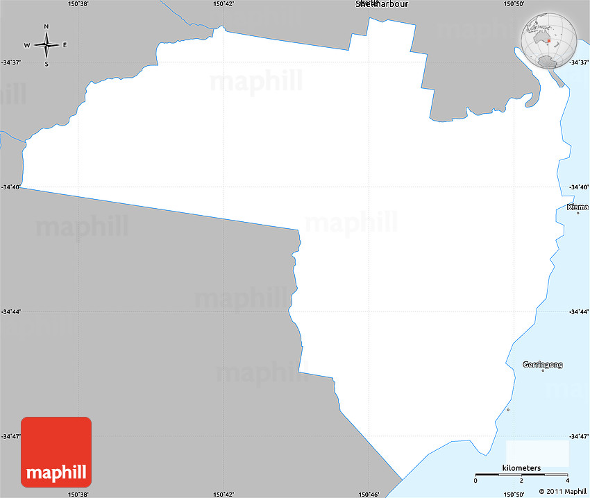 Gray Simple Map of Kiama on new south wales australia map, perth australia map, grand pacific drive australia map, cronulla beach australia map, moruya australia map, north ryde australia map, avoca beach australia map, townsville australia map, perisher australia map, liverpool australia map, pokolbin australia map, port macquarie australia map, brisbane australia map, sydney australia map, canberra australia map, merimbula australia map, lake mungo australia map, sawtell australia map, hamilton australia map, wollongong australia map,
