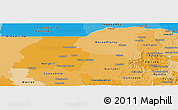 Political Shades Panoramic Map of New South Wales