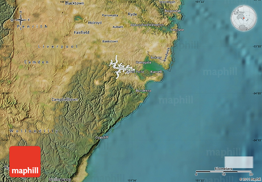 Satellite Map of Sutherland Shire