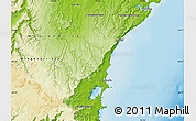 Physical Map of Wollongong