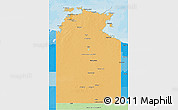 Political Shades 3D Map of Northern Territory