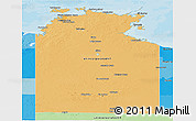 Political Shades Panoramic Map of Northern Territory