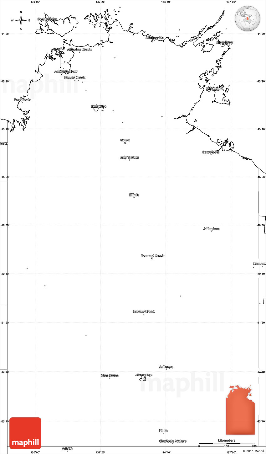 Blank Map Of Oceania Blank Simple Map of Un...