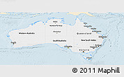 Classic Style Panoramic Map of Australia, single color outside
