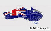 Flag Panoramic Map of Australia, flag rotated