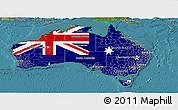 Flag Panoramic Map of Australia, satellite outside