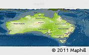 Physical Panoramic Map of Australia, darken