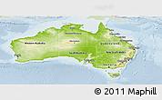 Physical Panoramic Map of Australia, lighten