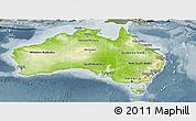 Physical Panoramic Map of Australia, semi-desaturated
